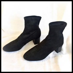 Mango Shoes - MOVING SALE! - MNG Black Suede-look Ankle Boots